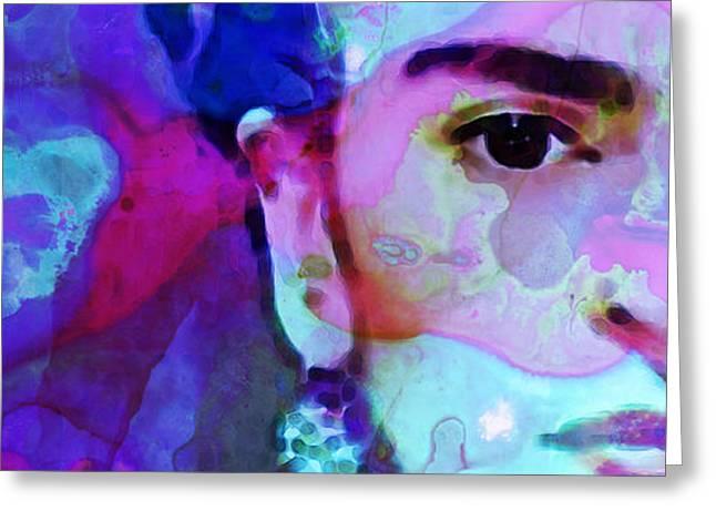 Dreaming of Frida - Art By Sharon Cummings Greeting Card by Sharon Cummings