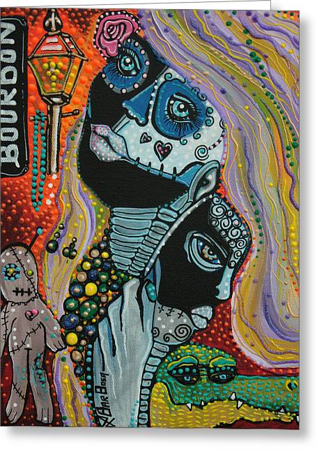 Mardi Gras Paintings Greeting Cards - Dreaming of Mardi Gras Greeting Card by Laura Barbosa