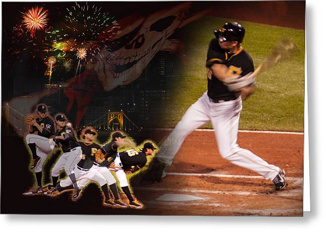 Pnc Park Digital Art Greeting Cards - Dreaming of October Greeting Card by Joe Winkler