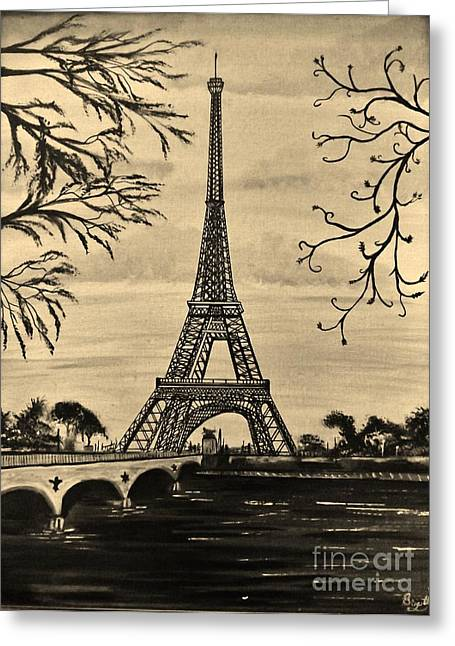 Dreaming Of Paris 2 Greeting Card by Brigitte Emme