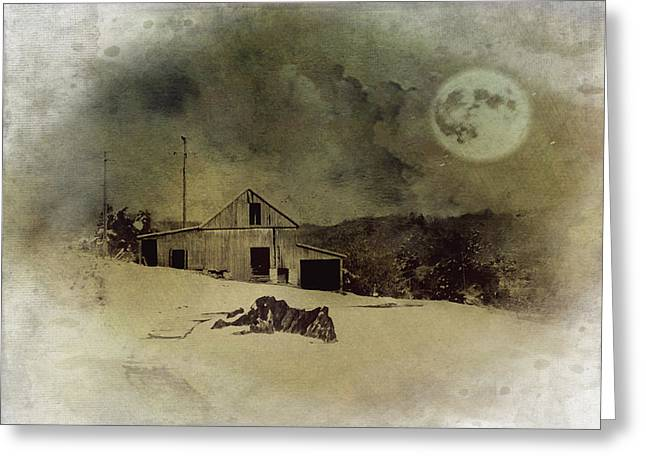 Barn Landscape Photographs Greeting Cards - Dreaming Of Snow Greeting Card by Kathy Jennings