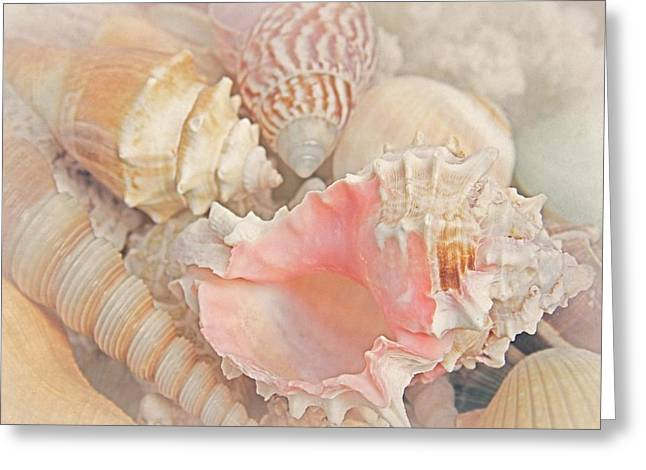 Shell Texture Digital Art Greeting Cards - Dreaming of the Seashore Greeting Card by Elizabeth Budd