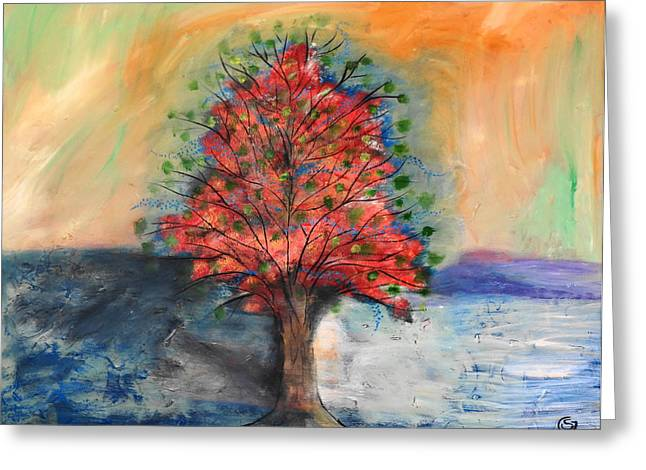 Dreaming Of Trees Greeting Card by San Con
