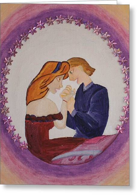 Couple Pastels Greeting Cards - Dreaming Greeting Card by Tania  Katzouraki