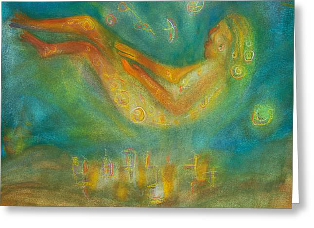 Candle Lit Greeting Cards - Dreaming the light of a new dawning Greeting Card by Suzy Norris