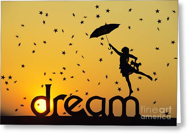 Dancing Girl Greeting Cards - Dreaming Greeting Card by Tim Gainey
