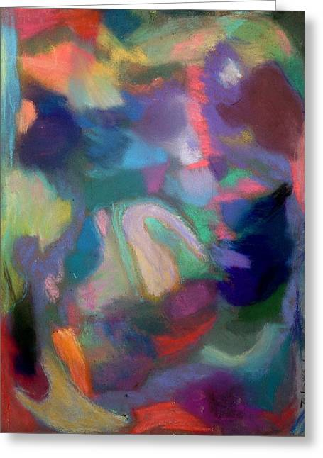 Expressionist Pastels Greeting Cards - Dreaming Greeting Card by  Tolere