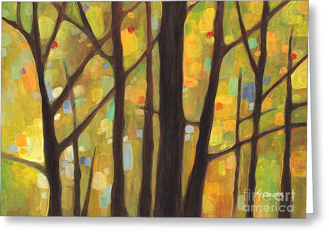 Treescape Greeting Cards - Dreaming Trees 1 Greeting Card by Hailey E Herrera
