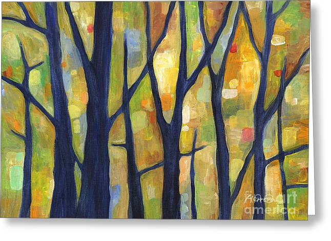Dreaming Trees 2 Greeting Card by Hailey E Herrera
