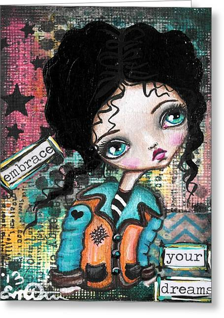 Oddball Art Greeting Cards - Dreams 2 Greeting Card by Lizzy Love of Oddball Art Co