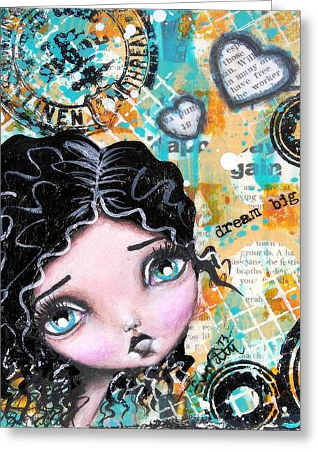 Oddball Art Greeting Cards - Dreams 6 Greeting Card by Lizzy Love of Oddball Art Co