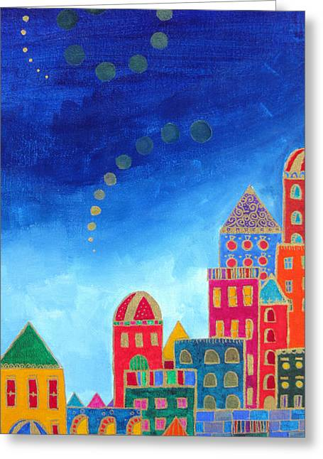 Dawnstarstudios Greeting Cards - Dreams Above Jerusalem Greeting Card by Dawnstarstudios