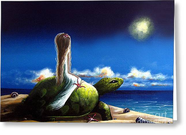 Ocean Turtle Paintings Greeting Cards - Dreams Before I Awake by Shawna Erback Greeting Card by Shawna Erback