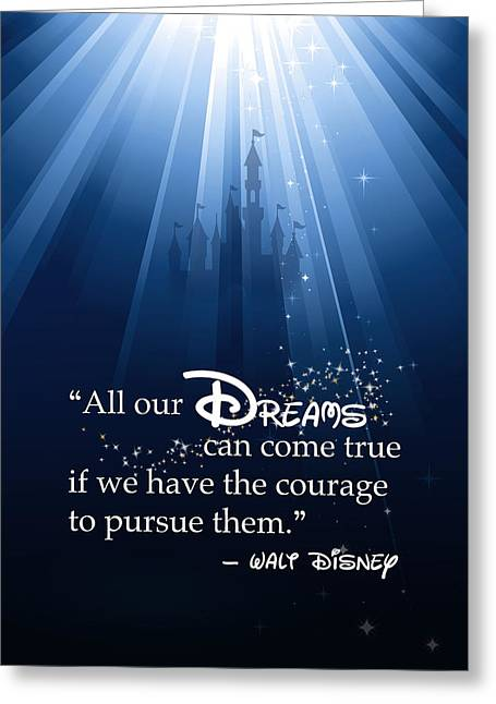 Walt Disney World Greeting Cards - Dreams Can Come True Greeting Card by Nancy Ingersoll