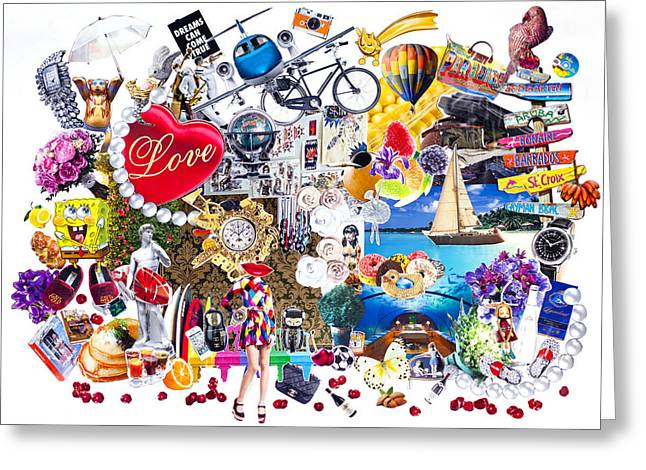 Jewelry Posters Greeting Cards - Dreams come true Greeting Card by Svetlana Bolshova