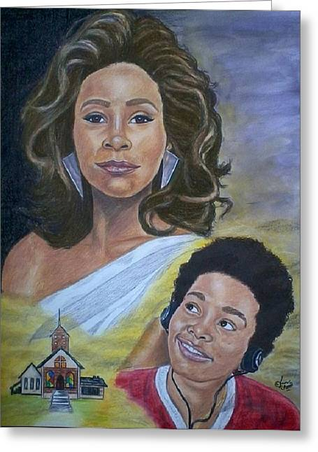 Prisma Colored Pencil Paintings Greeting Cards - Dreams Do Come True Whitney Greeting Card by Arron Kirkwood