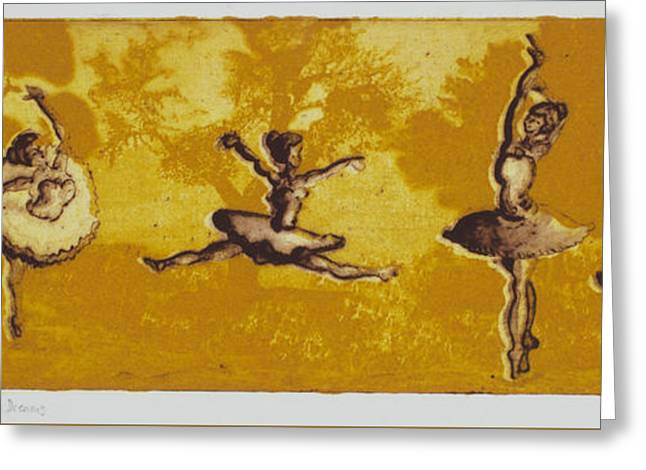 Ballet Dancers Greeting Cards - Dreams Greeting Card by Esther Osborn