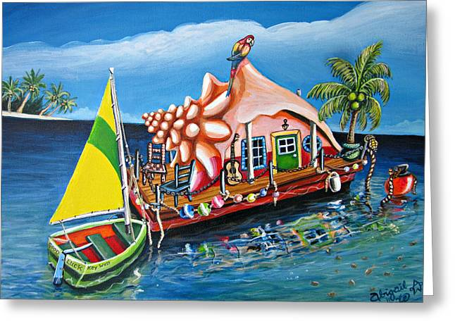 Recently Sold -  - Boats On Water Greeting Cards - Dreams Float Greeting Card by Abigail White