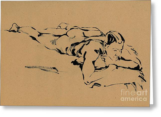 On The Beach Drawings Greeting Cards - Dreams Greeting Card by Konstantin Boreo