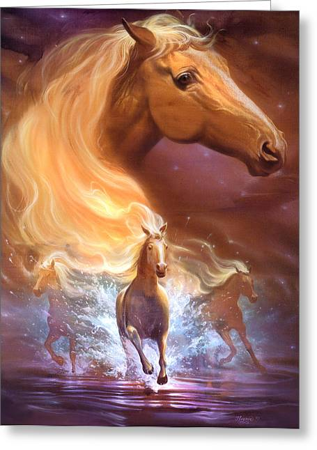 Equestrian Prints Greeting Cards - Dreams need hope to run free Greeting Card by Jeff Haynie