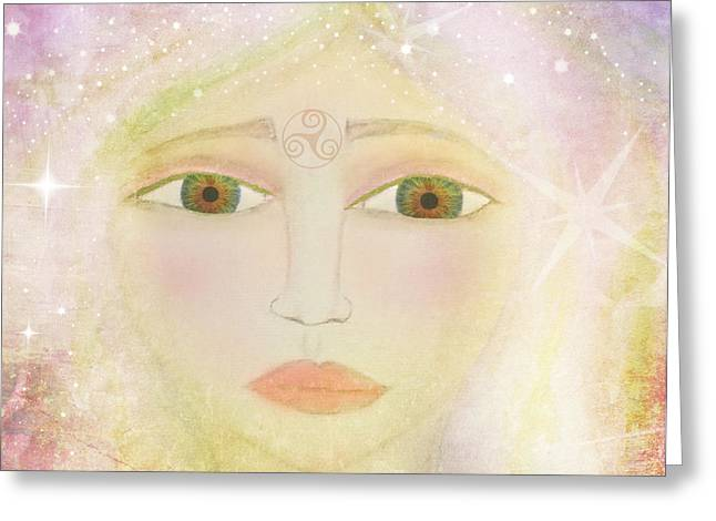 Dreams of Avalon Tipple Goddess Guinevere  Greeting Card by Sacred  Muse
