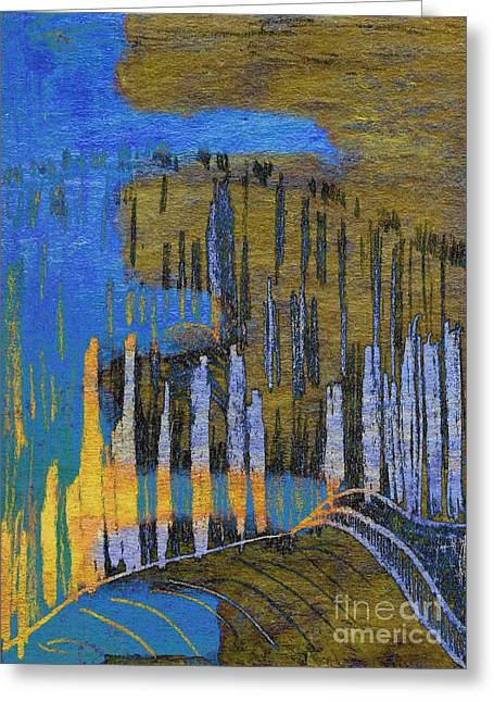 Cornfield Mixed Media Greeting Cards - Dreams of Field Greeting Card by R Kyllo