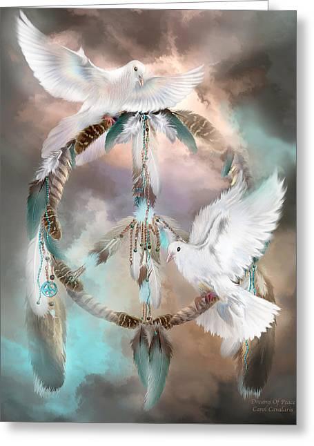 Dreams Of Peace Greeting Card by Carol Cavalaris