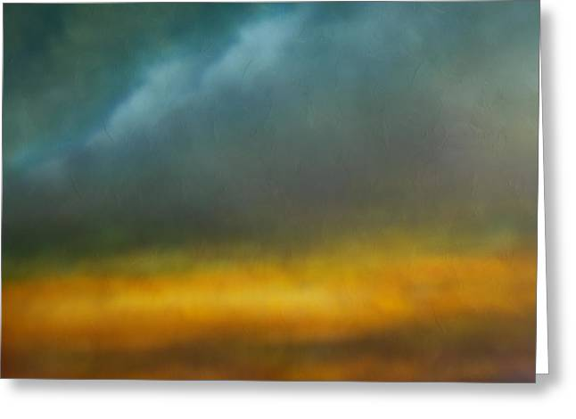Abstract Digital Mixed Media Greeting Cards - Dreams Of The Lands You Showed Me Greeting Card by Georgiana Romanovna