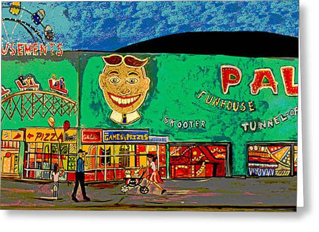 Asbury Park Paintings Greeting Cards - Dreams of the Palace Greeting Card by Patricia Arroyo