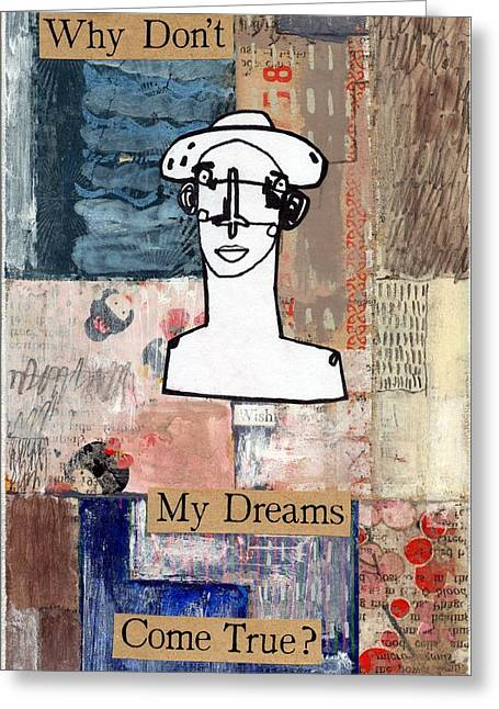 Ambition Mixed Media Greeting Cards - Dreams Greeting Card by Simon Kirk