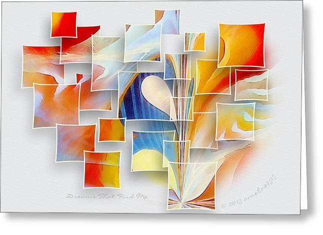 Dreams That Find Me Greeting Card by Gayle Odsather