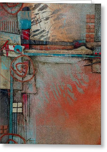 Layers Mixed Media Greeting Cards - Dreams to Instruct					 Greeting Card by Laura  Lein-Svencner