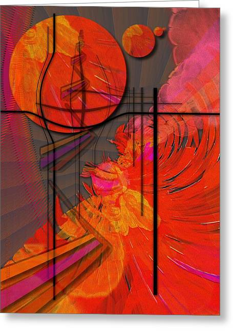 Dreamscape 06 - Tangerine Dream Greeting Card by Mimulux patricia no