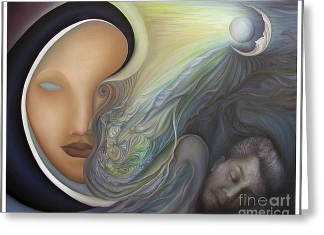 Recently Sold -  - Inner Self Paintings Greeting Cards - Dreamscape Greeting Card by Joanna Pregon
