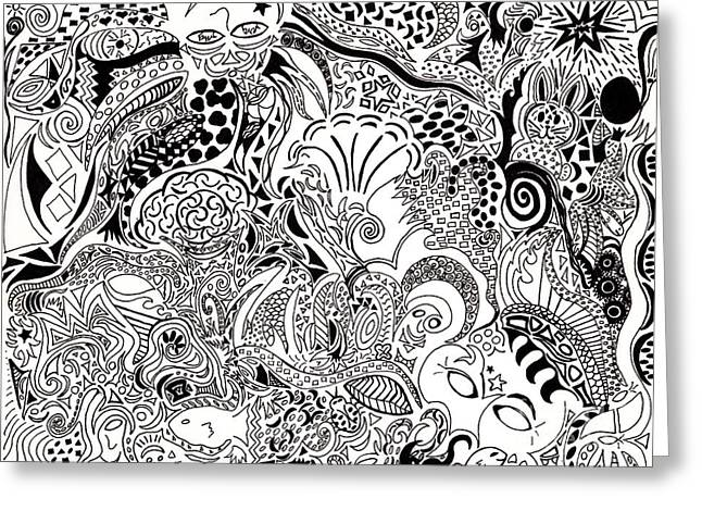 Breezy Drawings Greeting Cards - Dreamscape Greeting Card by M West