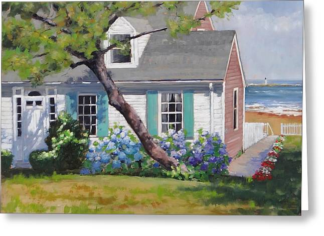 New England Coast Line Greeting Cards - Dreamscape Two Greeting Card by Laura Lee Zanghetti