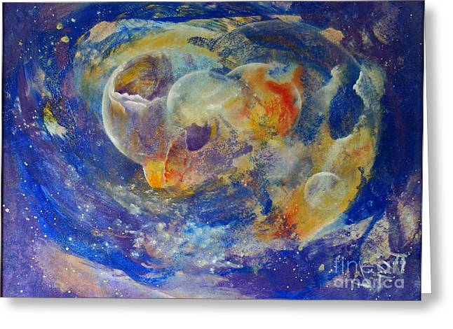 Macrocosm Greeting Cards - Dreamscape Greeting Card by Valia US