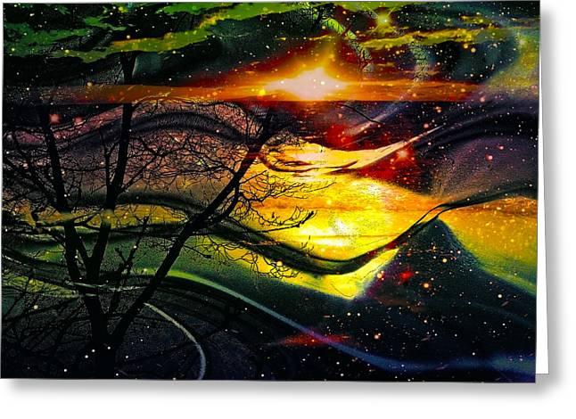 Dreamtime Greeting Card by Linda Sannuti