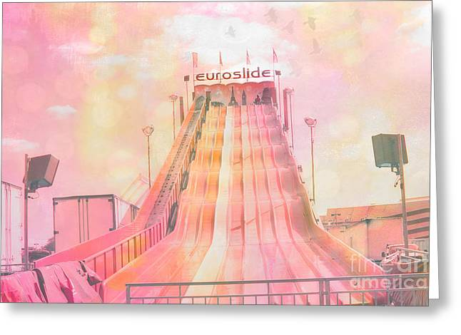 Carnival Fun Festival Art Decor Greeting Cards - Dreamy Carnival Rides Festival Art - Euroslide Greeting Card by Kathy Fornal