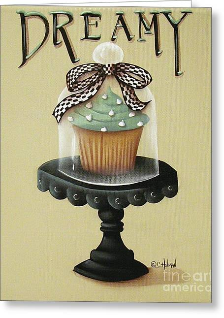 Frosting Greeting Cards - Dreamy Cupcake Greeting Card by Catherine Holman