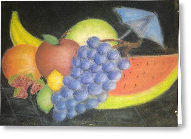 Dew Pastels Greeting Cards - Dreamy Fruit Greeting Card by Tracy Lawrence