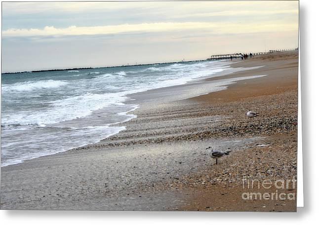 Calming Ocean Waves Greeting Cards - Dreamy Ocean Beach North Carolina Coastal Beach  Greeting Card by Kathy Fornal