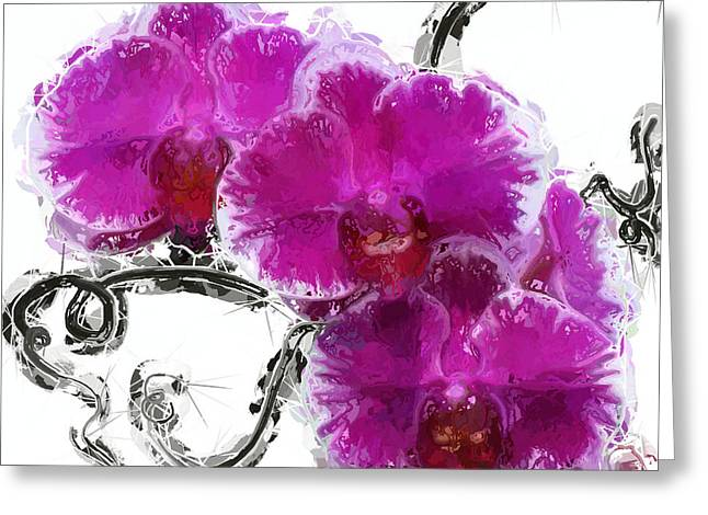 Dreamy Orchids Greeting Card by Anthony Fishburne