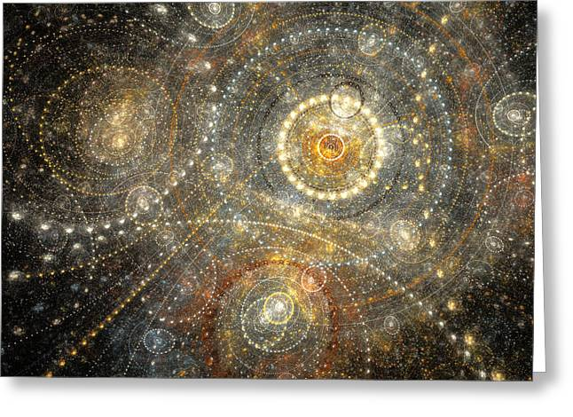Office Space Digital Greeting Cards - Dreamy orrery Greeting Card by Martin Capek