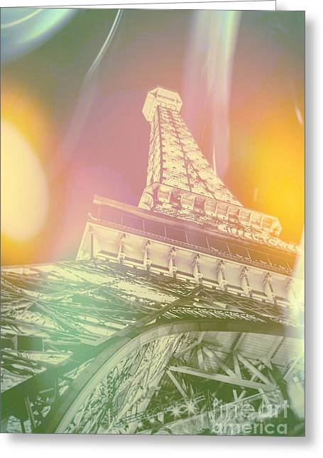 Eiffel Tower Greeting Cards - Dreamy Romance Greeting Card by Az Jackson