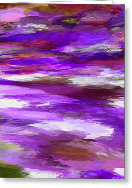 Abstract Waves Greeting Cards - Dreamy Skies 1 Greeting Card by Ernie Echols