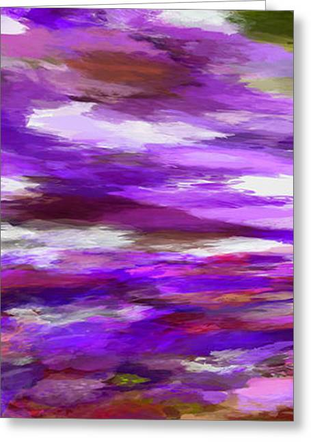 Purple Abstract Greeting Cards - Dreamy Skies Greeting Card by Ernie Echols