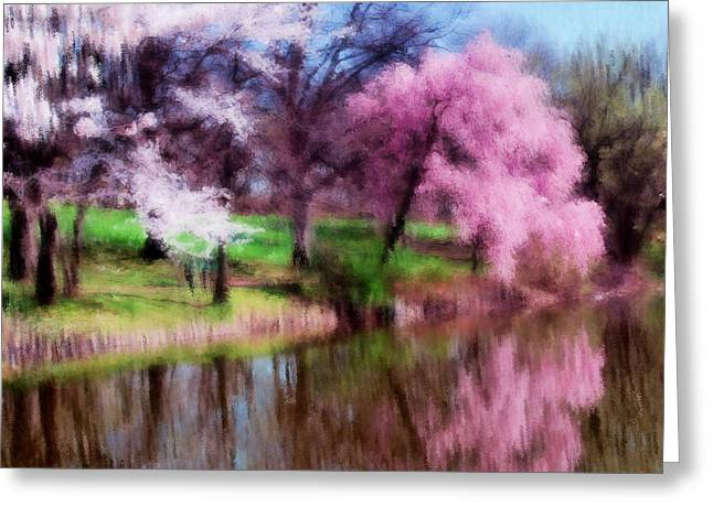 Zeana Romanovna Greeting Cards - Dreamy Spring Greeting Card by Georgiana Romanovna