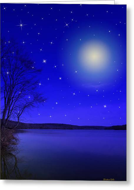 Dreamy Stars At Night Greeting Card by Christina Rollo