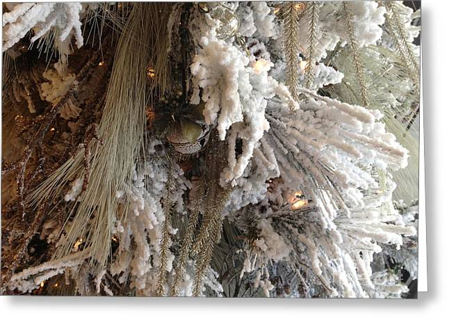 Sepia White Nature Landscapes Greeting Cards - Dreamy Trees Ethereal Winter White Snow On Trees Nature Winter White Greeting Card by Kathy Fornal